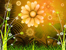 Copyspace Background Means Green Grass And Abstract Royalty Free Stock Photos