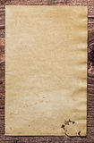 Copyspace background vintage blank paper on old Royalty Free Stock Photography