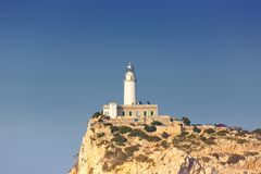 Copyspace balearischer Isl Leuchtturm-Kappe Formentor Majorca Mallorca lizenzfreie stockfotografie