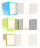 Copyspace banner template as folded four part stand Stock Photo