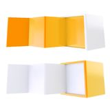 Copyspace banner template as folded four part stand Royalty Free Stock Image