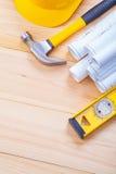 Copyspace-Bildmenge des Werkzeugbauniveaus Stockbild