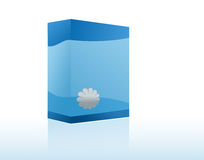 Copyspace Blue Box Stock Image