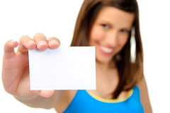 Copyspace business card Stock Photography