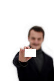CopySpace - carte de visite professionnelle de visite de fixation de jeune homme Photographie stock