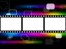 Copyspace Color Shows Hi Tech And Blank Royalty Free Stock Image
