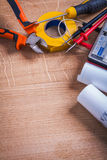 Copyspace composition electrical tools insulation Stock Image