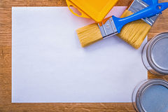 Copyspace composition painting tools on white Stock Photography