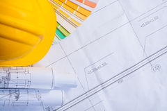 Copyspace construction concept background yellow Stock Photography