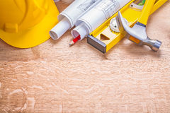 Copyspace construction concept background yellow Royalty Free Stock Photos
