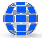 Copyspace controlla i mezzi schermo piano e computer Fotografia Stock