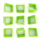 Copyspace cube square shelf boxes isolated Royalty Free Stock Photography