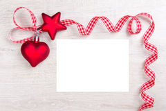 Copyspace da etiqueta da fita do coração da estrela Fotografia de Stock