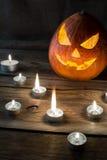 Copyspace de la vertical de la calabaza de Halloween Foto de archivo libre de regalías