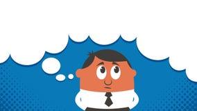 Copyspace de pensamento ilustração stock