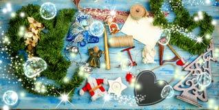 Copyspace del fondo di Natale Fotografia Stock