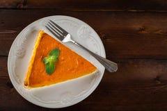 Copyspace del pastel de calabaza Fotografía de archivo libre de regalías