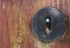 Copyspace do close up do buraco da fechadura da porta Imagem de Stock Royalty Free