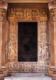 Copyspace in einem Rahmen des Portals des alten Tempels Lizenzfreies Stockfoto