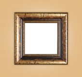 Copyspace empty wooden picture frame composition Royalty Free Stock Images