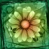 Copyspace floral muestra límite y el marco de la flor stock de ilustración