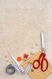 Copyspace frame with sewing tools and accesories Stock Photography