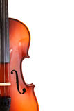 Copyspace and half of classical wooden fiddle Stock Photo