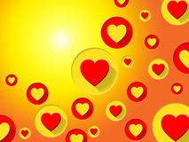 Copyspace Hearts Indicates Valentines Day And Background Stock Images