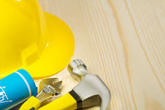 Copyspace image of construction tools Royalty Free Stock Photo