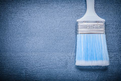 Copyspace image paint brush with blue bristle and white handle Stock Image
