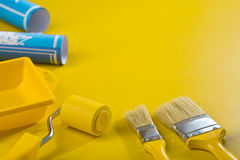 Copyspace image of painting tools Stock Photography