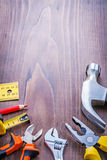 Copyspace image set of tools claw hammer pliers Stock Images