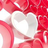 Copyspace love background made of heart shapes Stock Photo