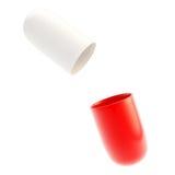 Copyspace Medizinkapsel-Pillekasten Stockfoto