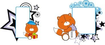 Copyspace mignon de bande dessinée de bébé de Fox Photo libre de droits