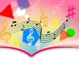 Copyspace nota a folha e a melodia de música dos meios Imagens de Stock Royalty Free