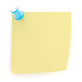 Copyspace note sticked with pushpin Royalty Free Stock Photo