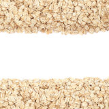 Copyspace oatmeal backdrop composition Royalty Free Stock Image