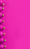 Copyspace pink colored christmas background Royalty Free Stock Photography