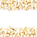 Copyspace popcorn background Royalty Free Stock Images