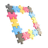 Copyspace puzzle frame made of jigsaw pieces Stock Images