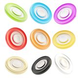 Copyspace round glossy circle button emblem badges Royalty Free Stock Images