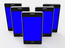 Copyspace Smartphone Indicates Portable Web And Online Royalty Free Stock Photography