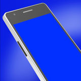 Copyspace Smartphone Shows Mobile Telephone And Online Royalty Free Stock Photo