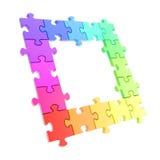 Copyspace som pussel inramar gjort av jigsawen, lappar Royaltyfri Foto