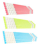 Copyspace tag banner arrow made of glossy cubes Stock Images