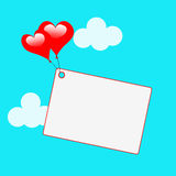 Copyspace Tag Shows Heart Shapes And Card Stock Photography