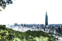 The copyspace in Taipei city Royalty Free Stock Photography