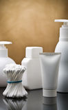 Copyspace View On The Skincare Items Royalty Free Stock Photos