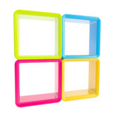 Copyspace window shelf set showcase Stock Image